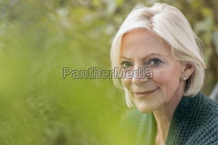 portrait of smiling senior woman in