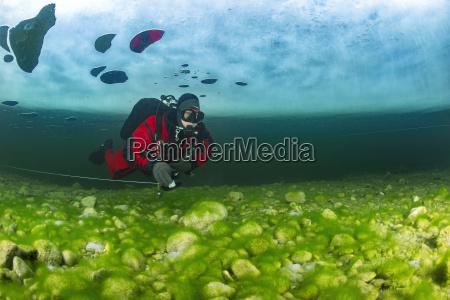 austria styria lake grundlsee scuba diver