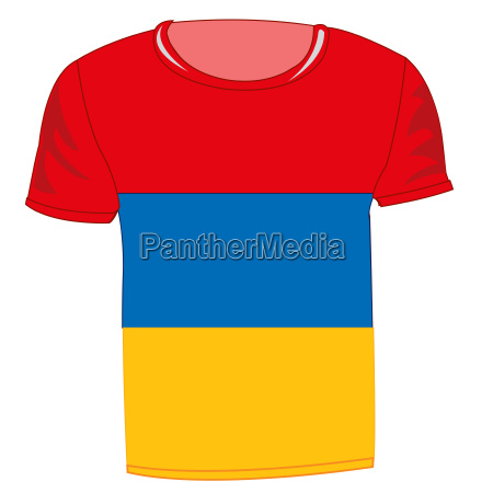 t shirt with flag armenia