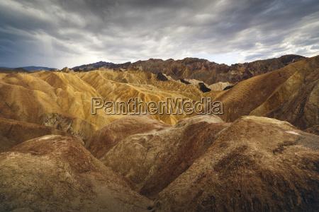 barren landscape of death valley zabriskie