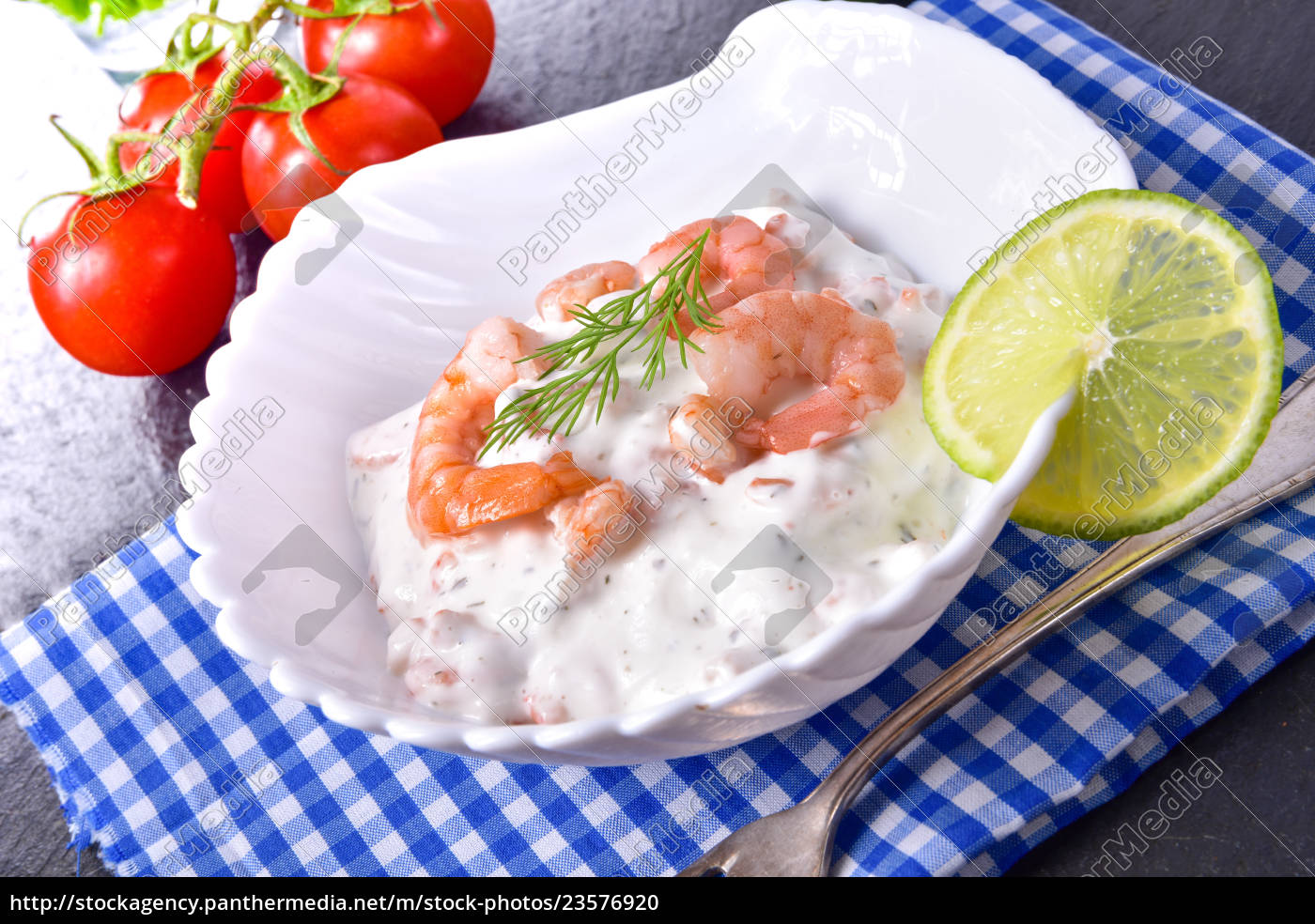 crab, North Sea shrimp, salad, North Sea, food, healthy - 23576920