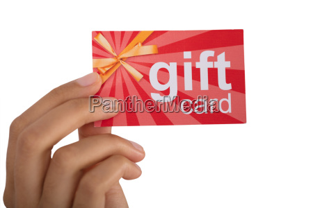 person, holding, gift, card - 23578592