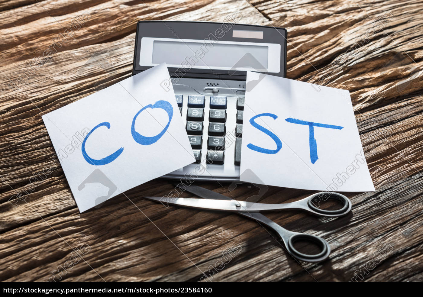 close-up, of, cost, text, on, calculator - 23584160