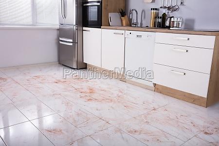 dirty, floor, in, kitchen - 23584732