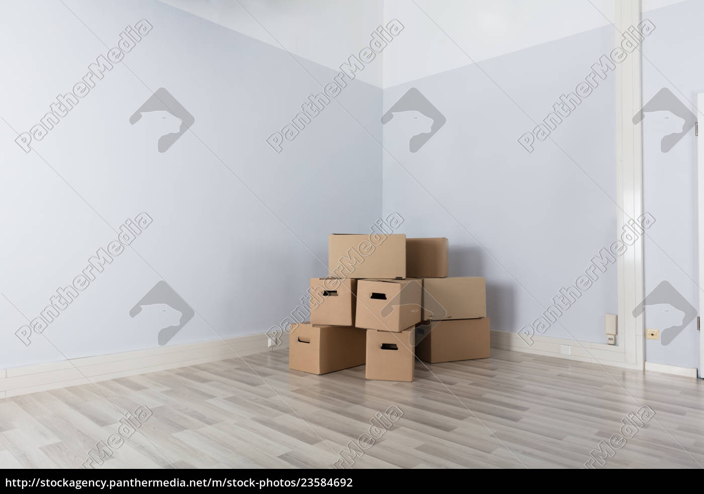 room, with, stack, of, cartons - 23584692
