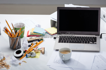 laptop, and, coffee, cup, over, the - 23595872