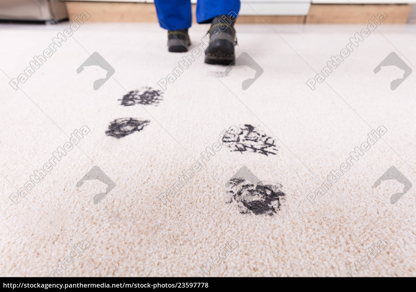 elevated, view, of, muddy, footprint, on - 23597778