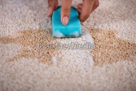 janitor, cleaning, stain, on, carpet - 23597190