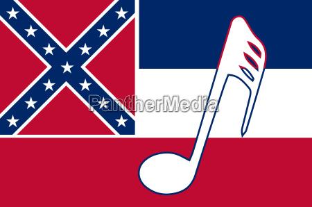 musical mississippi state flag