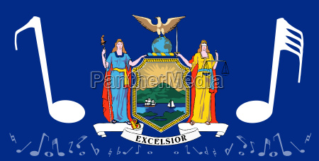 musical new york state flag