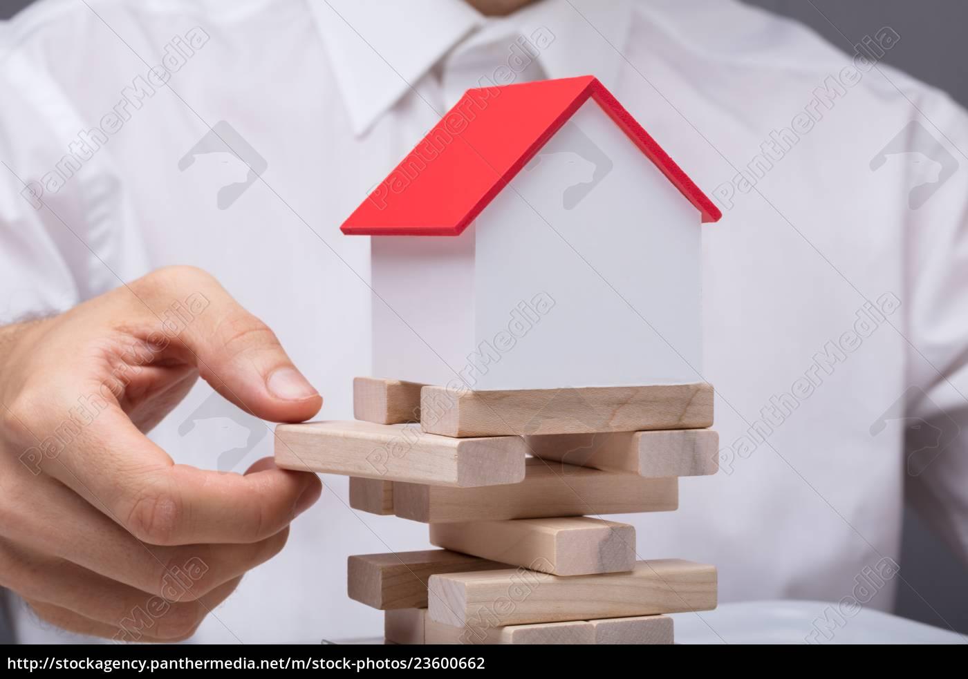 businessman, balancing, property, sector - 23600662