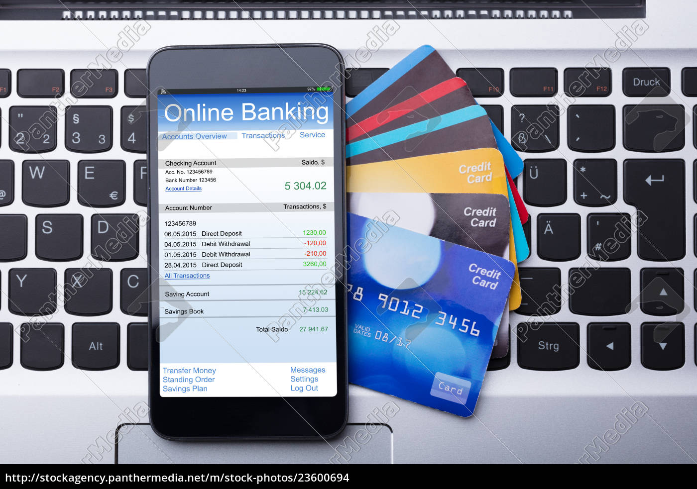 mobilephone, with, online, banking, app - 23600694