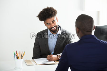 businessman, interviewing, male, candidate - 23601302