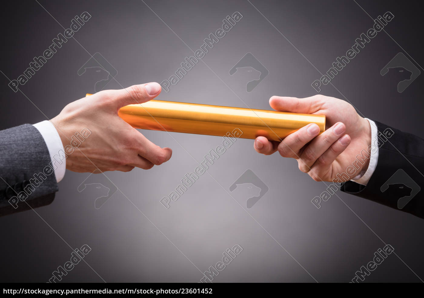 person, passing, baton, to, businessperson - 23601452