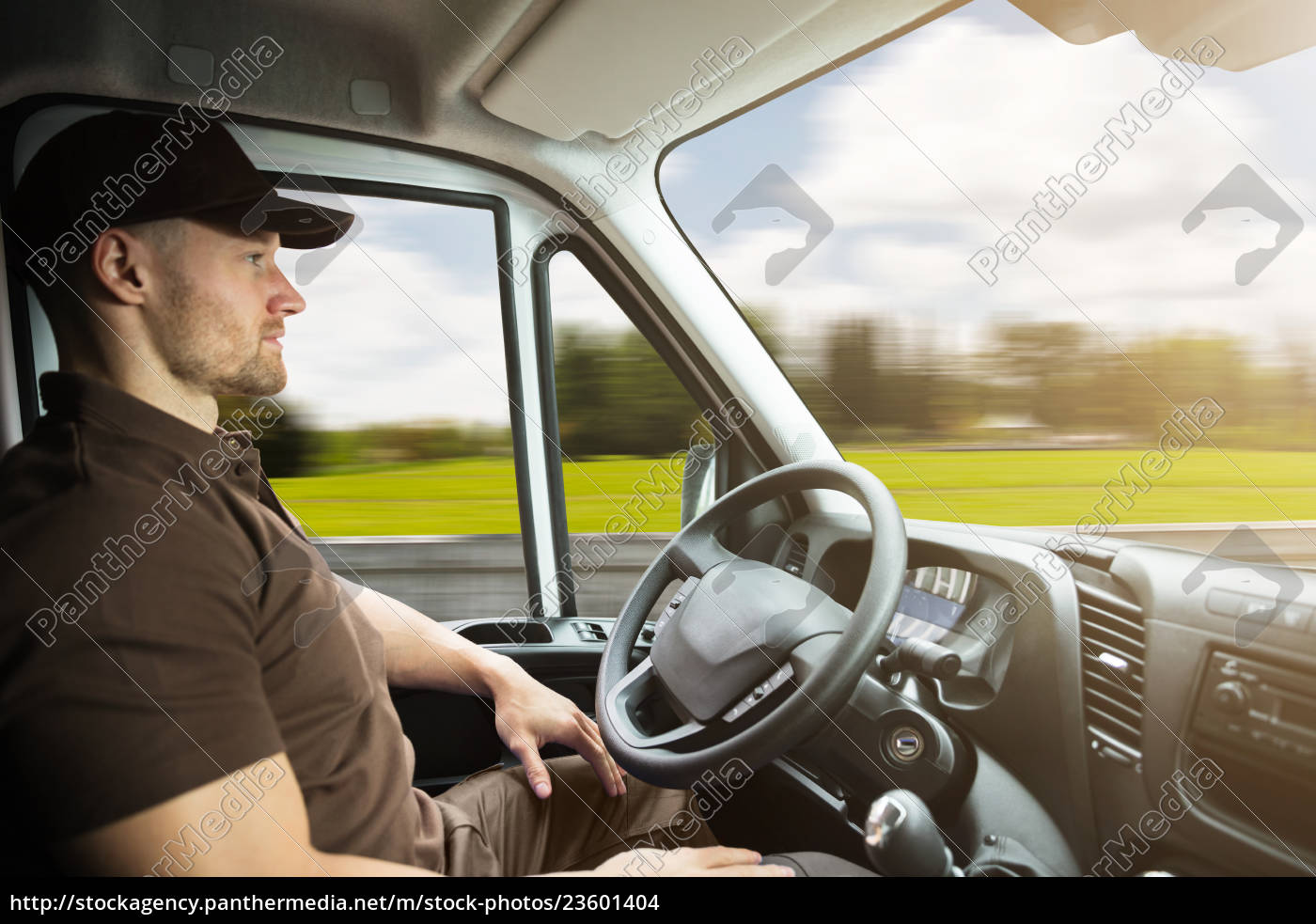 portrait, of, a, delivery, man, inside - 23601404