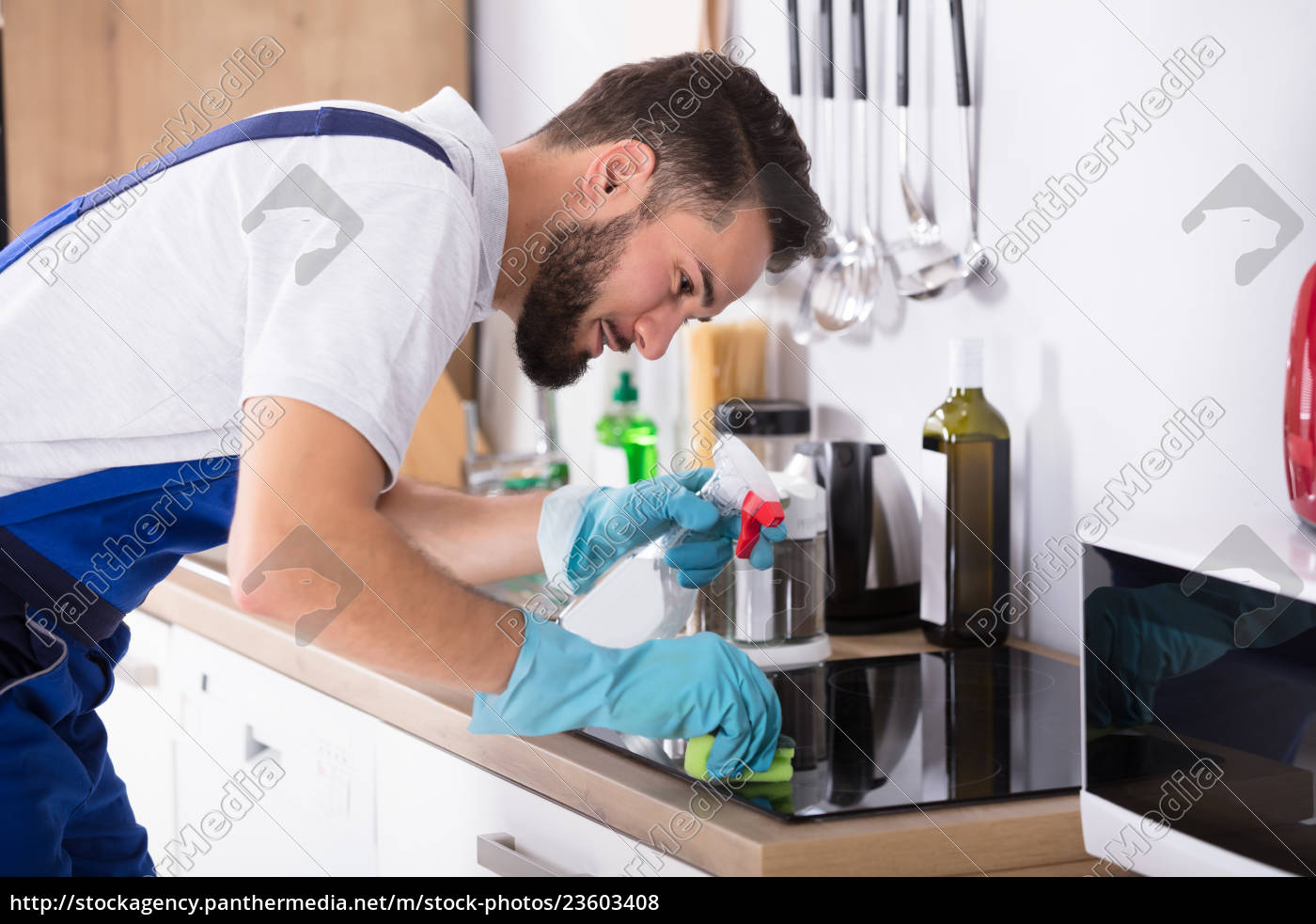 janitor, cleaning, induction, stove - 23603408