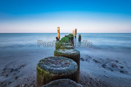 beach on the baltic coast near