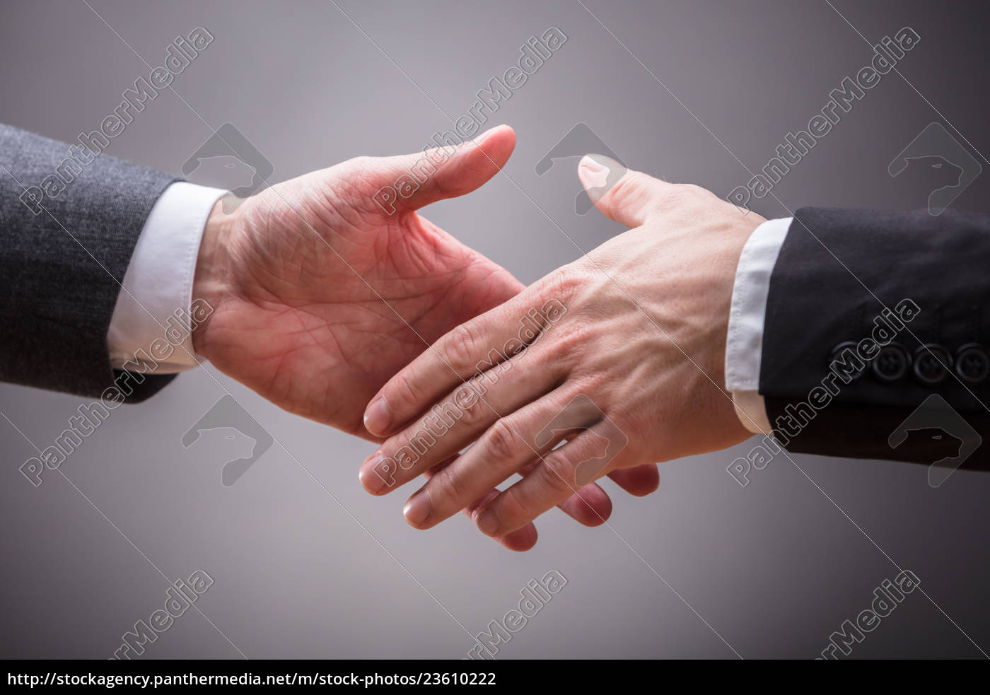 two, business, partners, shaking, hands - 23610222