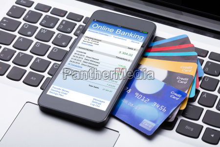 mobilephone, with, online, banking, app - 23618116
