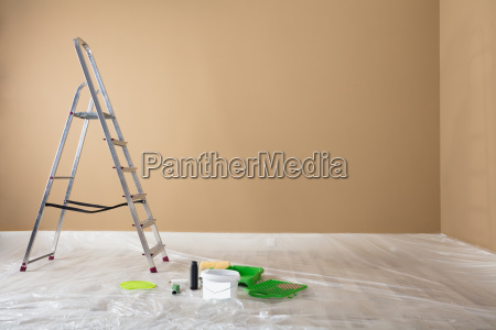 painted, room, with, ladder, and, painting - 23618242