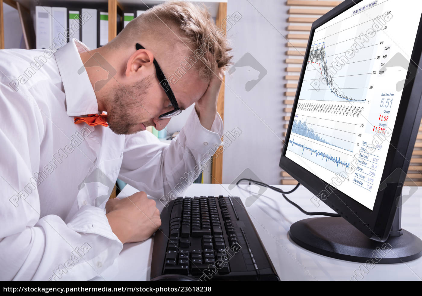 stressed, business, man, in, front, of - 23618238