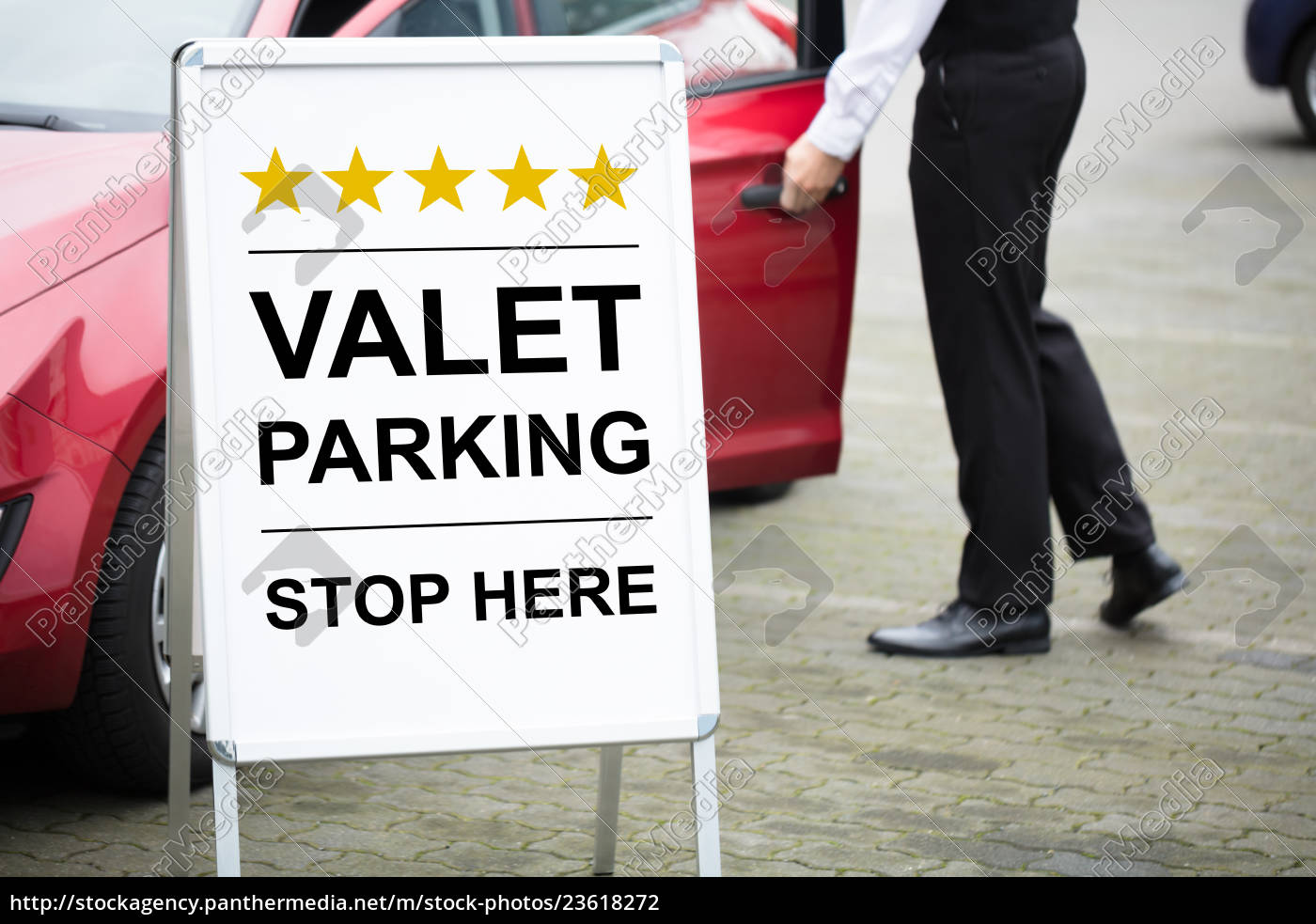 young, male, valet, standing, near, valet - 23618272