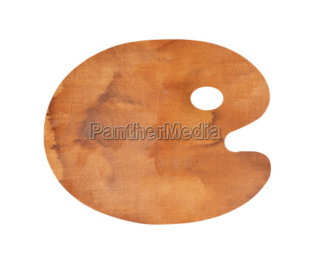 wooden palette without paint isolated on