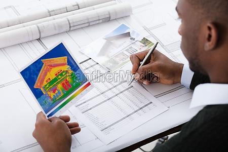 architect, calculating, heat, temperature - 23620342