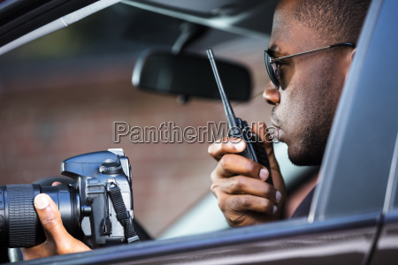 detective, sitting, inside, car - 23620328