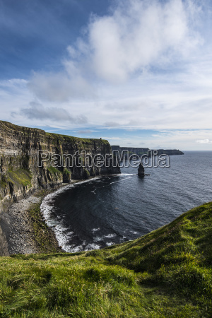 ireland clare county landscape of cliffs