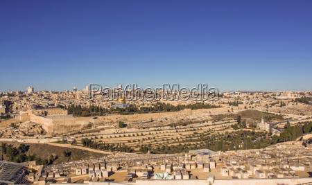 temple mount holy city jerusalem view
