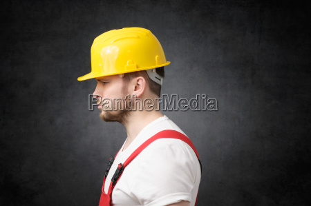 frustrated construction worker