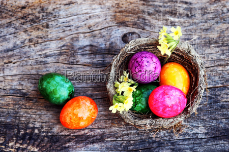 happy easter an easter nest with