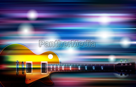 abstract blur music background with electric