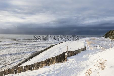 fresh snow on the beach homer