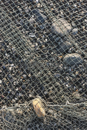 detail of fishing net stretched out