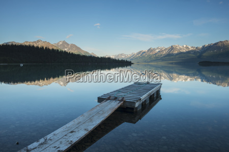 boat dock at a homestead on
