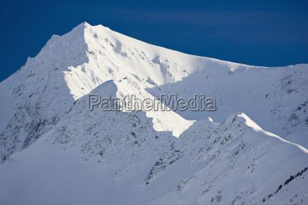 snow covered mountain detail kenai mountains