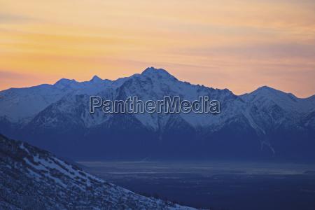 pioneer peak at sunrise taken at