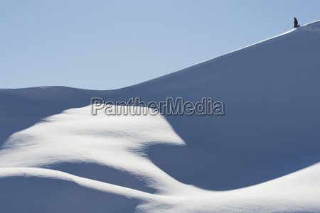 snowboarder on a snowy slope against