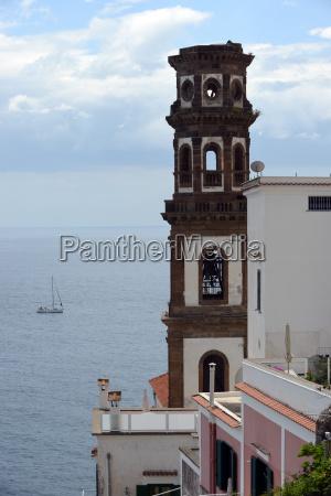 atrani city with santa maria maddalena