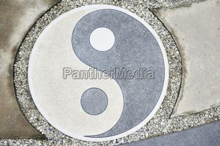 yin yang symbol on the floor