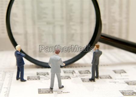 icon image market researcher financial analysis
