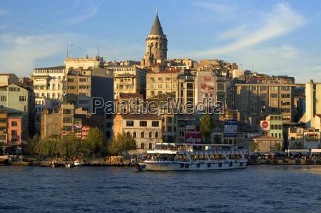 istanbul turkey golden horn in front