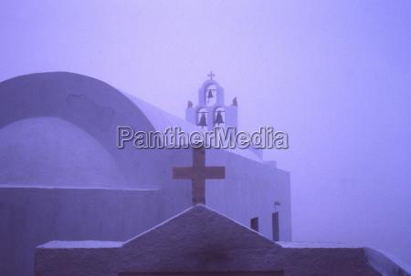 blue religion church colour cross fog