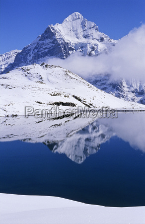 mountains cloud alps summit europe snowy