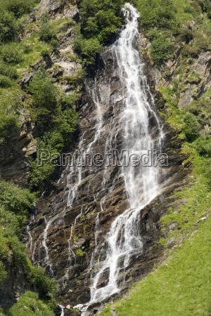 alps austrians europe stream waterfall tyrol