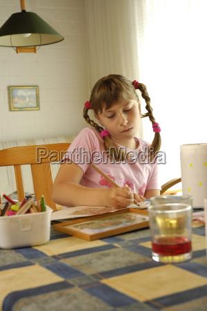 kind malt child paint