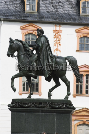 story monument thuringia rider equestrian august