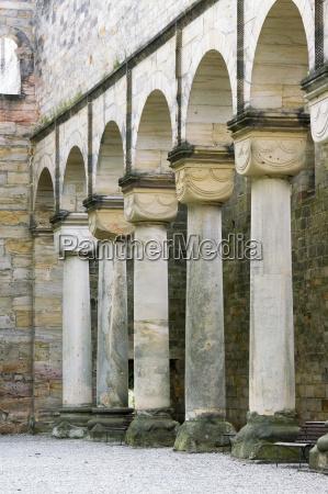 pillar ruin thuringia monastery deserted circular